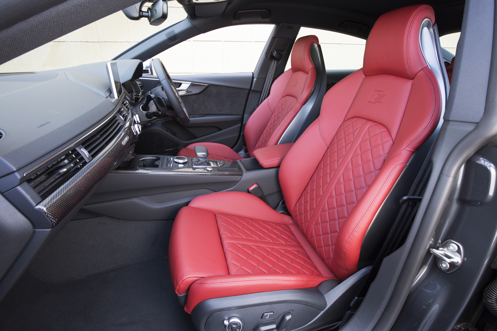 AUDI A3 HATCHBACK RACING RED SEAT COVERS