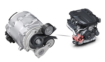 新型Audi A8全車に採用された48ボルト電源とマイルドハイブリッド(MHEV)テクノロジー
