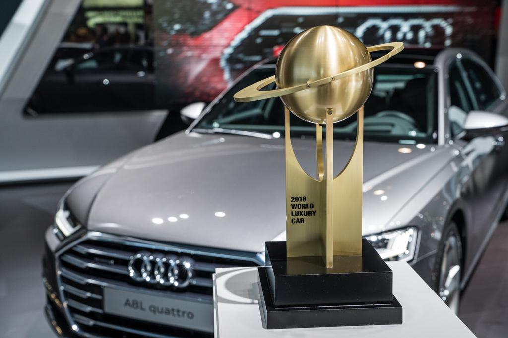 Audi A8が「ワールド ラグジュアリー カー 2018」を受賞