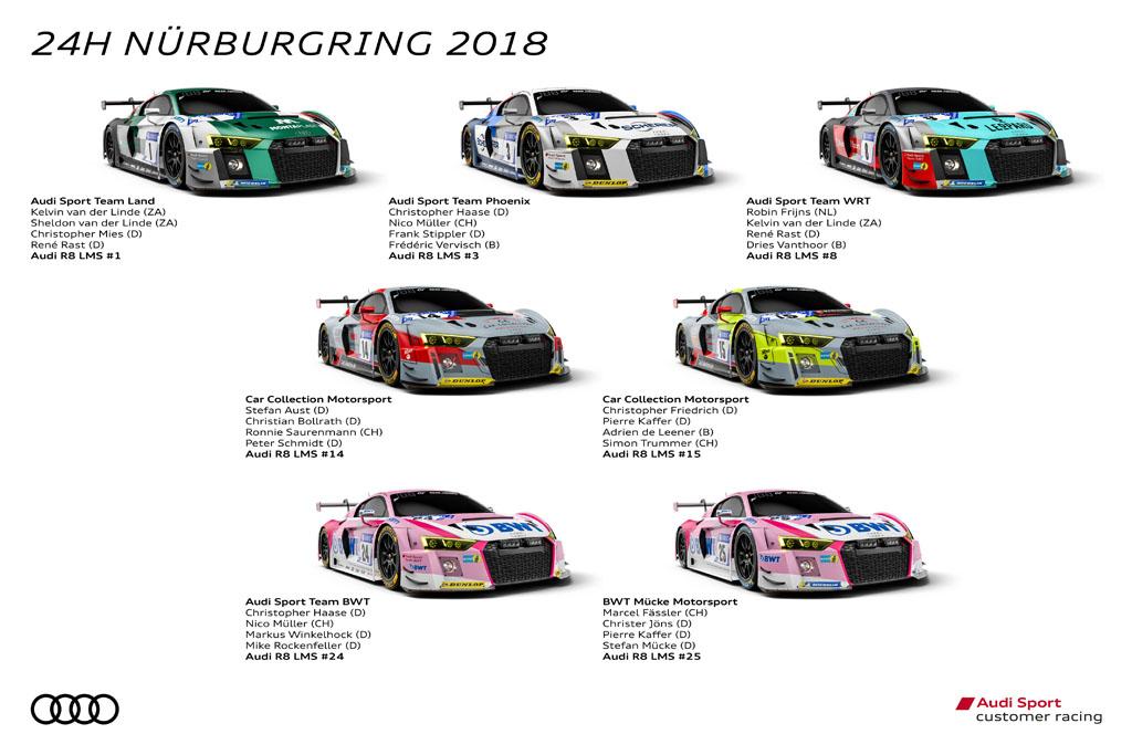 ニュルブルクリンク24時間レース:Audi Sportカスタマーレーシング最大の祭典