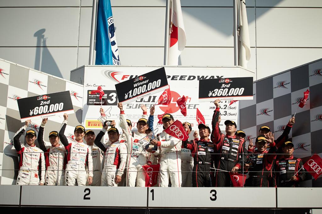 10年ぶりの国内24時間レースで、Audi RS 3 LMSがクラス優勝