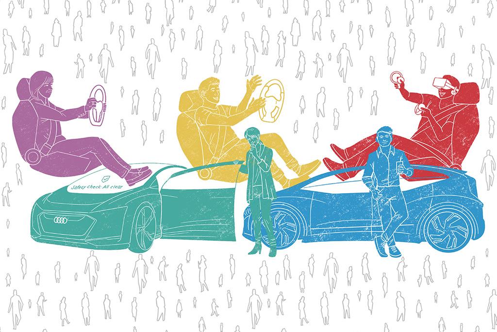 アウディ、自動運転に対するユーザータイプとイメージの調査結果を公開