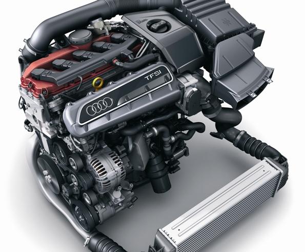Audi TT RS Coupéの5気筒、2.5リッターTFSIエンジン 「インターナショナル エンジン オブ ザ イヤー2010」を受賞