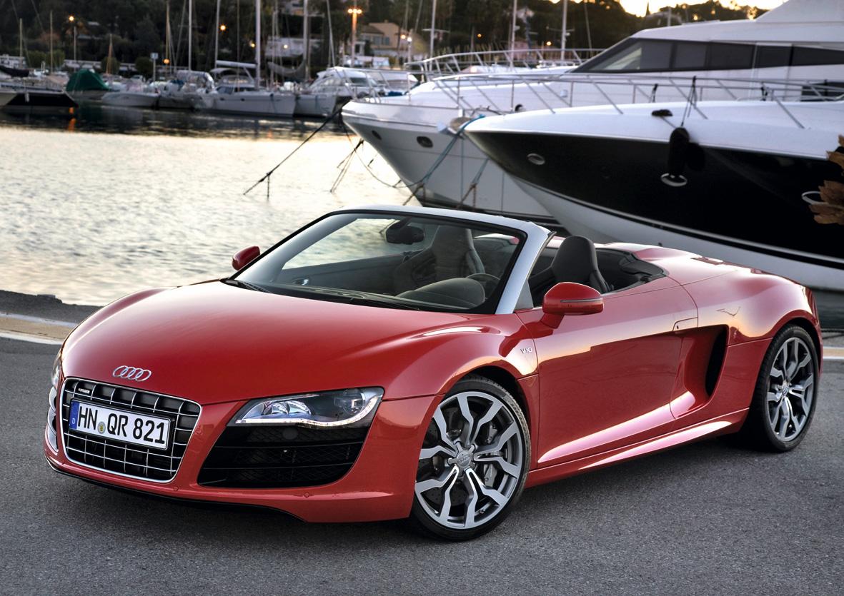 フラッグシップ オープンスポーツカー「Audi R8 Spyder」発売 V10  5.2ℓエンジン搭載、オールアルミニウムボディのエレガントなオープン2シーター