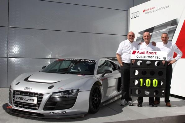 Audi R8 LMSが通算100勝を達成