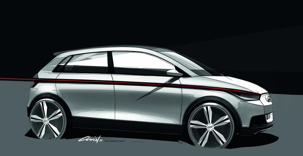 Audi A2コンセプトをフランクフルトモーターショーに出展 プレミアムクラスのスペースコンセプトEVを提案