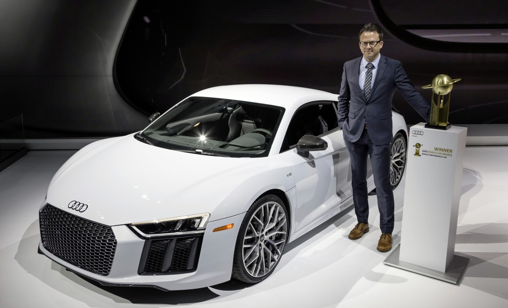 Audi R8が「2016ワールドパフォーマンスカー」に選出